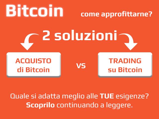 Acquistare Bitcoin o fare trading bitcoin