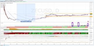 Cambio Zcash Dollaro, attendiamo il segnale di forza