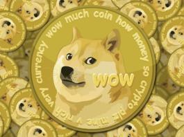 Il logo della criptovaluta Dogecoin