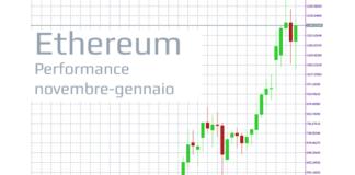 Le performance delle quotazioni di Ethereum sono salite di molto tra novembre e gennaio