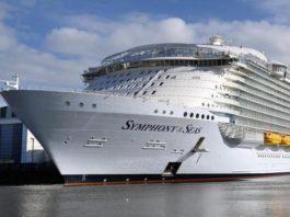 I fatturati per la Symphony of the Seas della Royale Caribbean in Italia aumentano del 30%