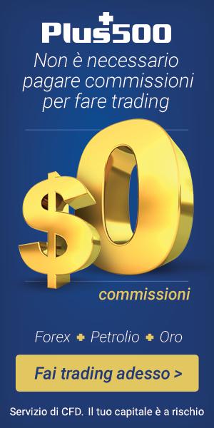 Con Plus500 si può fare trading senza commissioni